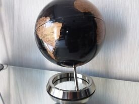 "Globe 12"" high black/goldy brown colour new unused"