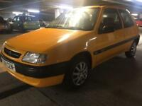 Citroen Saxo 1.1 East coast MOT Hpi Clean car Yellow Bargain Quick Sale Sunroof 2 keys
