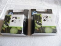 HP 901 OfficeJet Ink cartrides - 2 Black XL, 4 Tricolour - in packaging