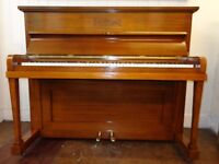 Small Barnes overstrung/underdamped piano, restored and professionally repolished