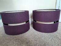 Pair of purple light shades