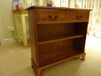 Bookcase with 2 drawers, YEW veneered, lovely piece