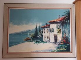Oil painting on canvas in frame