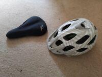 Bike helmet and gel seat great condition