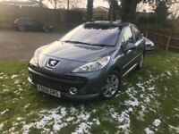 2008 Peugeot 207 1.6 Hdi 5 door hatchback grey,LOW MILEAGE,LONG MOT,£30 ROAD YEAR