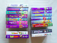 Collection of Disney Classic VHS Tapes