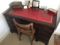 Vintage leather to office desk