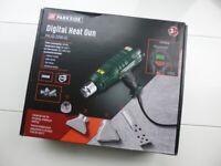 Parkside 2KW Digital Temperature Controlled Hot Air Heat Gun + Accessories + Scraper 50-650C NEW