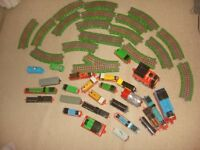 Thomas the tank a large set of trains