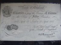 Banknote Collections or Accumulations Wanted: Esp British Cash Now