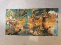 War Zone play mat - by True Hero - with water and bridge on map - 110cm by 59cm