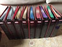 Marvel fact files issues 1-195 with binders and special editions