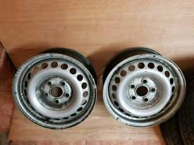 VW Crafter/Transporter Steel Wheels x 2 Mint Condition
