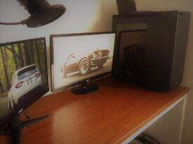i5 4690K GTX 970 4GB Gaming PC + 2 MONITORS