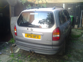 VAUXHALL ZAFIRA 2001 SPARES OR REPAIR DRIVE AWAY