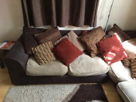 2 piece corner sofa with all cushions