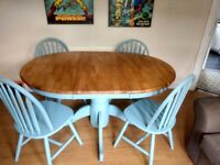 Country Farmhouse Dining Table Chairs