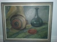 Andrew Ford II Still Life oil painting on canvas.