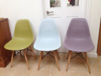 Eames inspired Eiffel Dining Chairs x 3