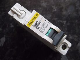 Used Square D SQO 6A Type B Single Pole MCB