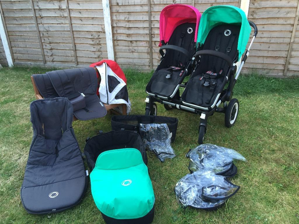 bugaboo donkey duo many accessories in guildford. Black Bedroom Furniture Sets. Home Design Ideas