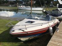 Maxum Sports Boat 2 Stroke 150hp Mercury Optimax.. Very fast fun boat thats in the water ready to go