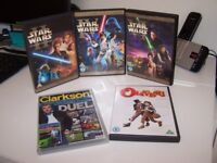 Assorted dvds including 3 STAR WARS