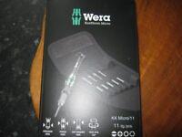 wera Electronics Micro screwdriver Set 11 pc brand new