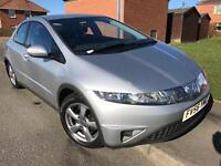 2007 HONDA CIVIC SE 2.2 I-CTDI 5 DOOR METALLIC SILVER FULL 12 MONTHS MOT