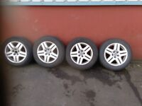 """VW 15"""" ALLOYS AND TYRES 5 x 100"""