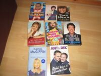 8 Autobiography Books - £3.00 the lot for Quick Sale