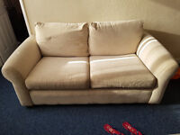 White DFS Sofas 3 spaces in Very Good Conditions