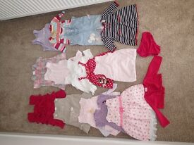 Assorted Girls Clothes Bundle, 3-6 months, Approx 100 Items