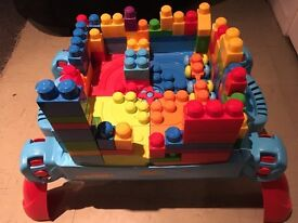 Mega bloks first builders build and learn table and blocks