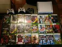 Xbox 360 + 3 controllers + 24 games!