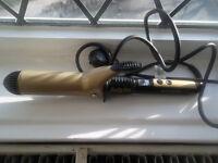 BaByliss Keratin Shine Waves 38mm Ceramic Barrel Hair Tong 2289DU