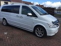 2013 13 reg Mercedes Vito CDti 2.2 xlwb 9 seater minibuses 6 speed ex bus £7595 No offers or tw