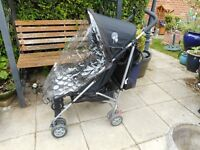 mother care stroller with rain cover