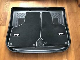Audi 2012 TT front mats, boot liner & leather keyring