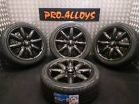 "17"" GENUINE MINI COPPER S CROWN ALLOY WHEELS & NEW TYRES REFURBISHED 4x100"