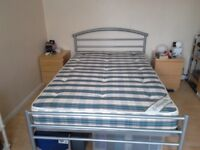 Small double 4ft metal bedframe.