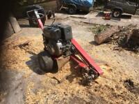 Electric start diesel stump grinder a great money maker