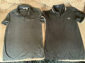 Calvin Klein and Fred Perry polo shirts XS