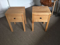 Feather and Black bedside tables