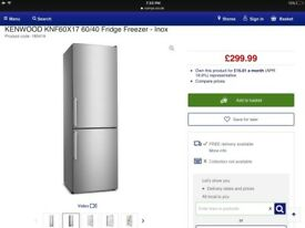 Stainless steel brand new fridge freezer