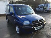 Fiat Doblo Wheelchair Accessible - Disabled Car price;£ 2299 ono px/exch