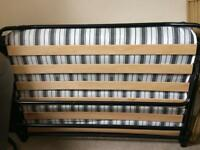 Folding Guest Bed Large Single with regular mattress
