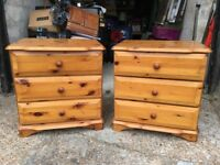 A Pair Of Pine Chest Of Drawers