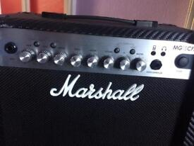 Electric guitar + Marshall amplifier and foot switch