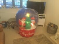 Inflatable snow globe for sale - only used once.